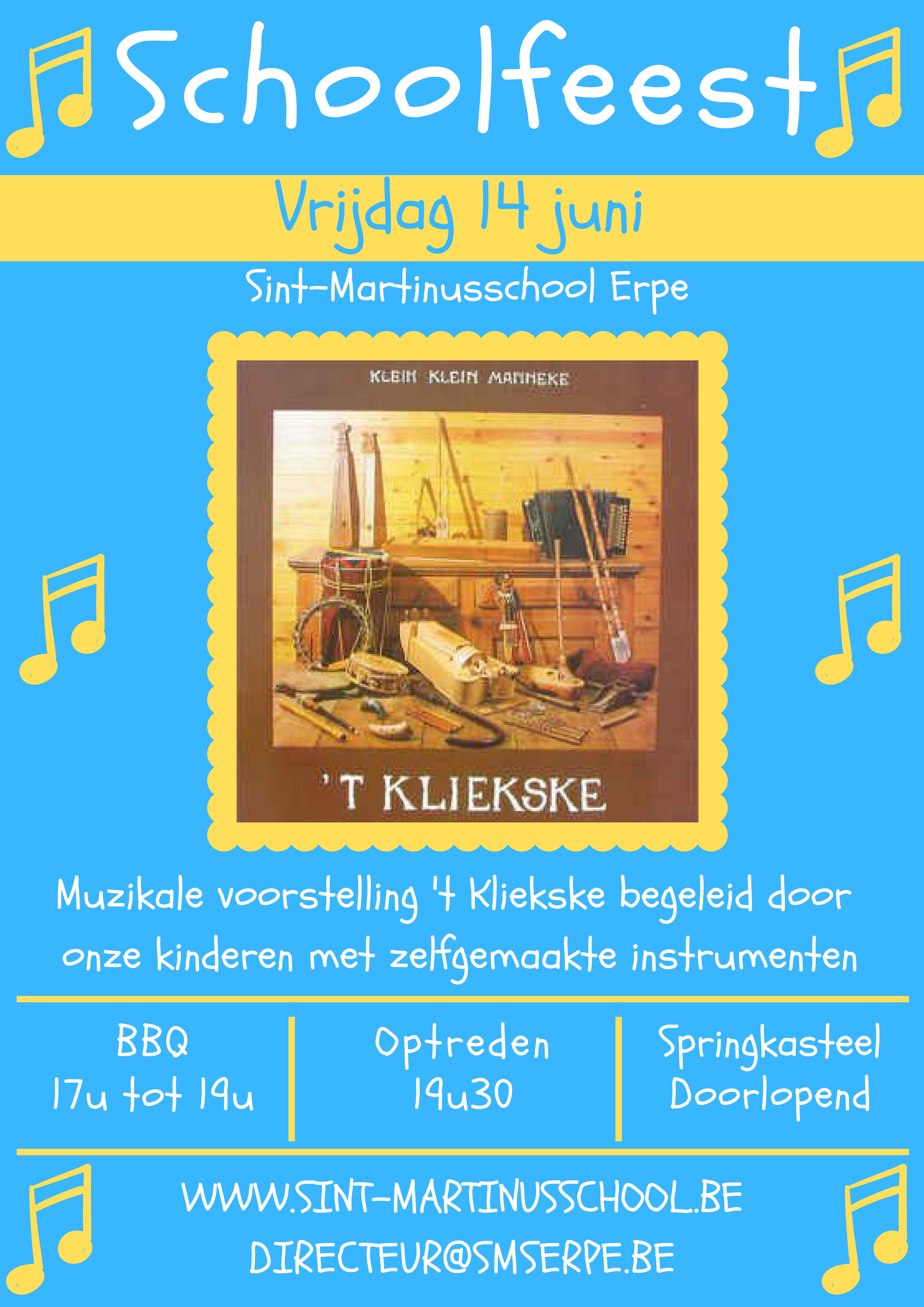 Schoolfeest vrijdag 14 juni